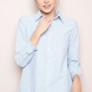 Brandy Melville Isabela Long Sleeve Button Up Top